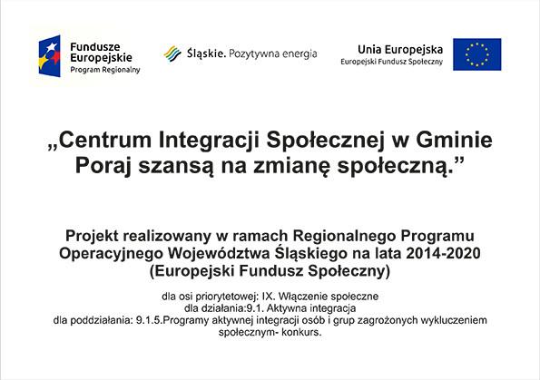 Projekt realizowany w ramach Regionalnego Programu Operacyjnego Województwa Śląskiego na lata 2014-2020 (Europejski Fundusz Społeczny)